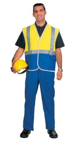 Hi Vi Waistcoat Class C Yellow & Blue